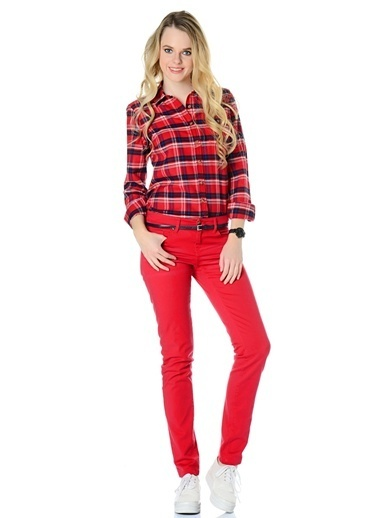 T-Box Gömlek Kırmızı